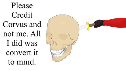 MMD Human Male Skull and Dagger DL