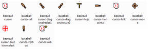 Baseball Cursor Pack - WIP
