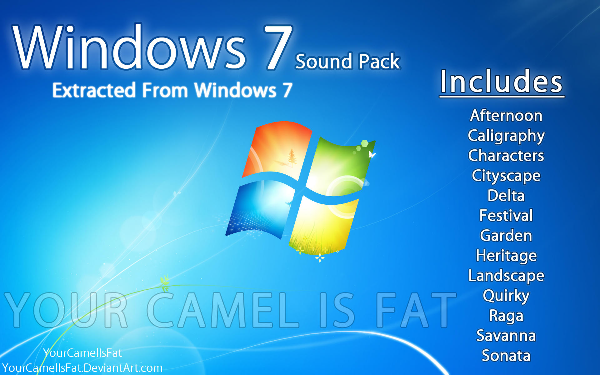 Windows 7 Sound Pack - ALL by YourCamelIsFat