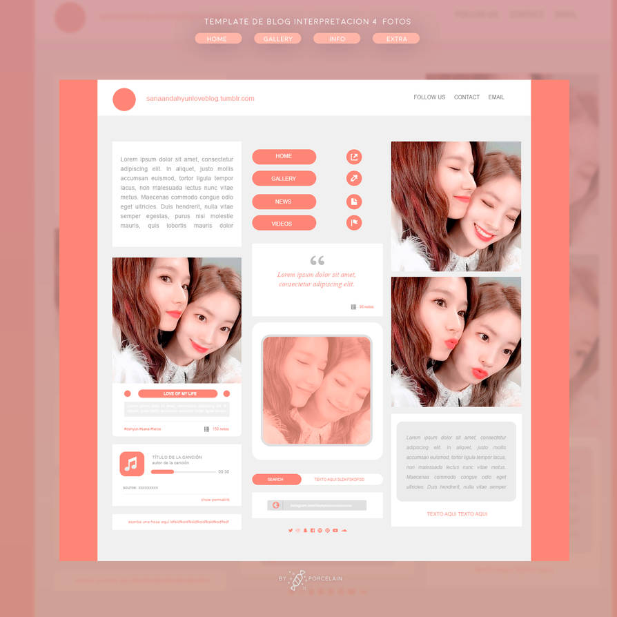 BLOG TEMPLATE #01 By Porcelain By Thatporcelain On DeviantArt