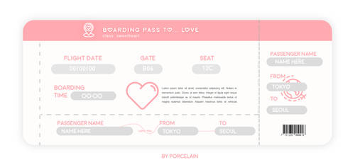 AIRPLANE TICKET by PORCELAIN