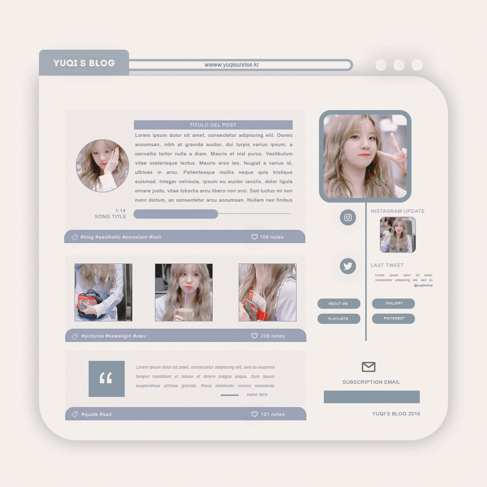 BLOG TEMPLATE PSD #02 By Porcelain By Thatporcelain On
