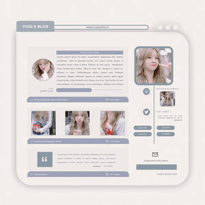 BLOG TEMPLATE PSD #02 by Porcelain