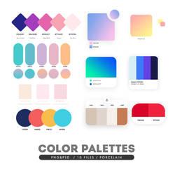 COLOR PALETTES PSD/PNG TEMPLATES by porcelain