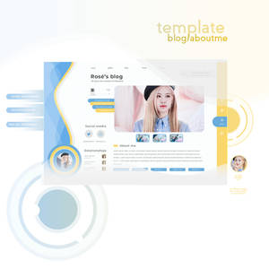 template blog character psd by porcelain