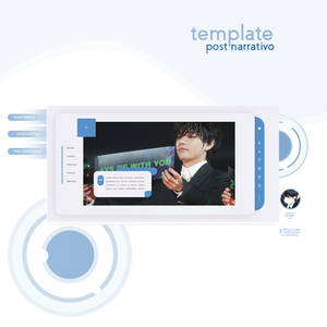 #043 TEMPLATE POST NARRATIVO FACEBOOK by PORCELAIN