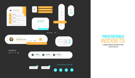 widgets iu/ux elements pack psd by itsporcelain