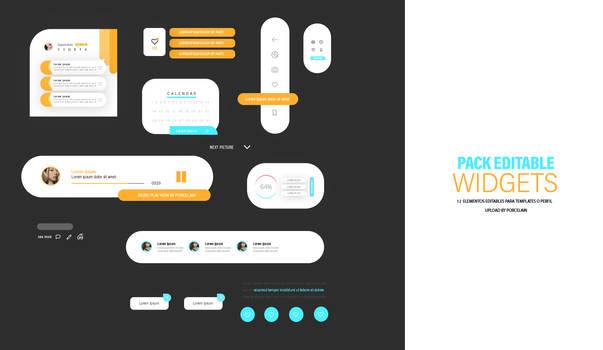 widgets iu/ux elements pack psd by itsporcelain