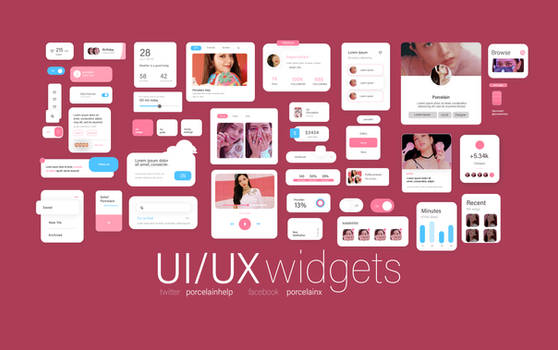 widgets ui/ux elements pack 2 psd by itsporcelain