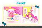 SANRIO MY MELODY TEMPLATE PSD BY ITSPORCELAIN