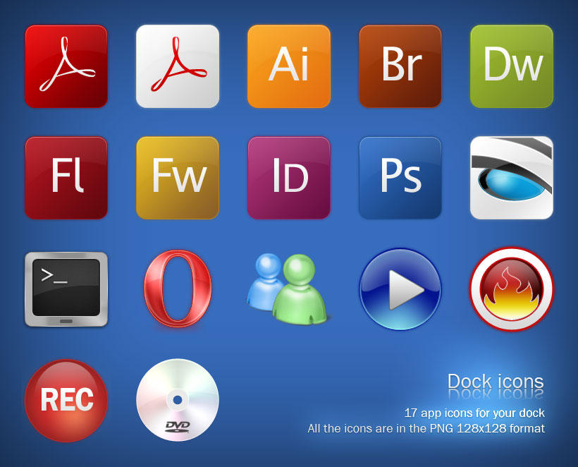 Dock Icons by jaderubini
