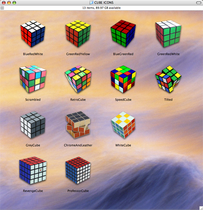 Rubik Cube Icons by memoryboy on DeviantArt