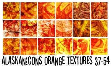 alaskanicons orange textures 3 by AlaskanEskimoPie
