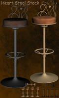 3D Stock Heart stool by Delekatala-stock