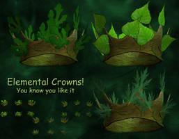 3D Stock Elemental Crowns by Delekatala-stock