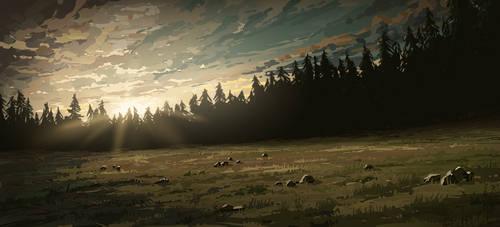 Dusk - Animated Illustration