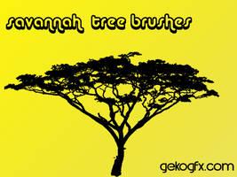 GekoGfx Savannah Tree Brushes by faaj