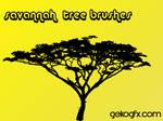 GekoGfx Savannah Tree Brushes