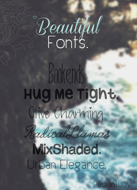 Beautiful Fonts || Agus .