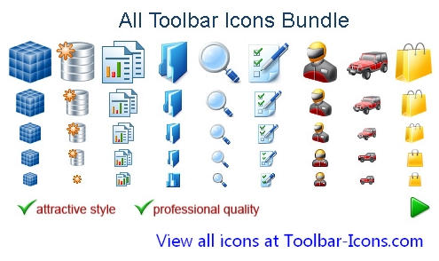 All Toolbar Icons 2011.4 Demo by fawkesbonfire
