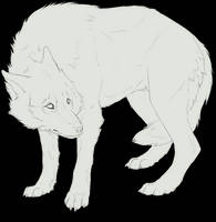 Free lineart wolf - scary