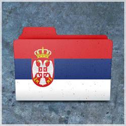 Serbian flag folder