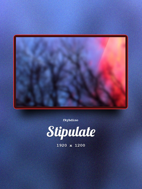 Stipulate by fkyhdino