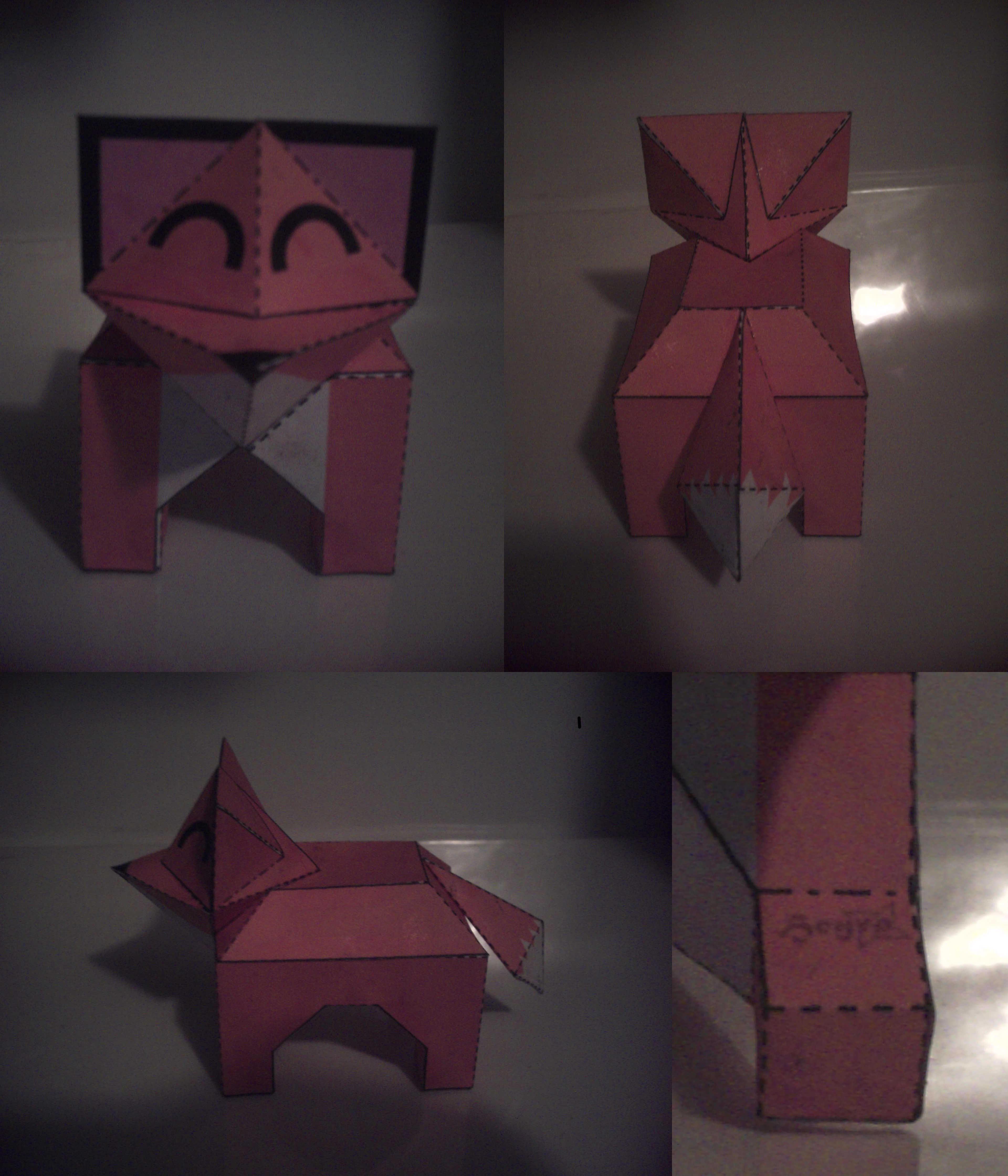 Papercraft Fox by Heyro0