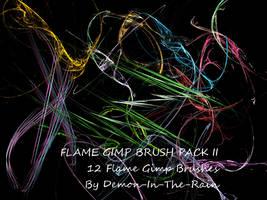 Flame-Glow Gimp Brushes-Set II by Demon-in-the-rain