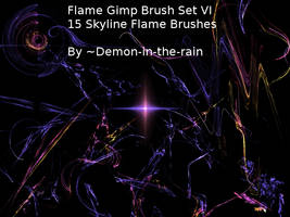 Flame-Glow Gimp Brushes-Set VI by Demon-in-the-rain