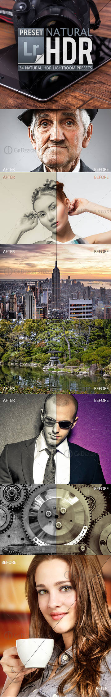 Natural Hdr Lightroom Presets by GrDezign