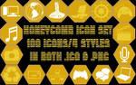 Honeycomb icon set