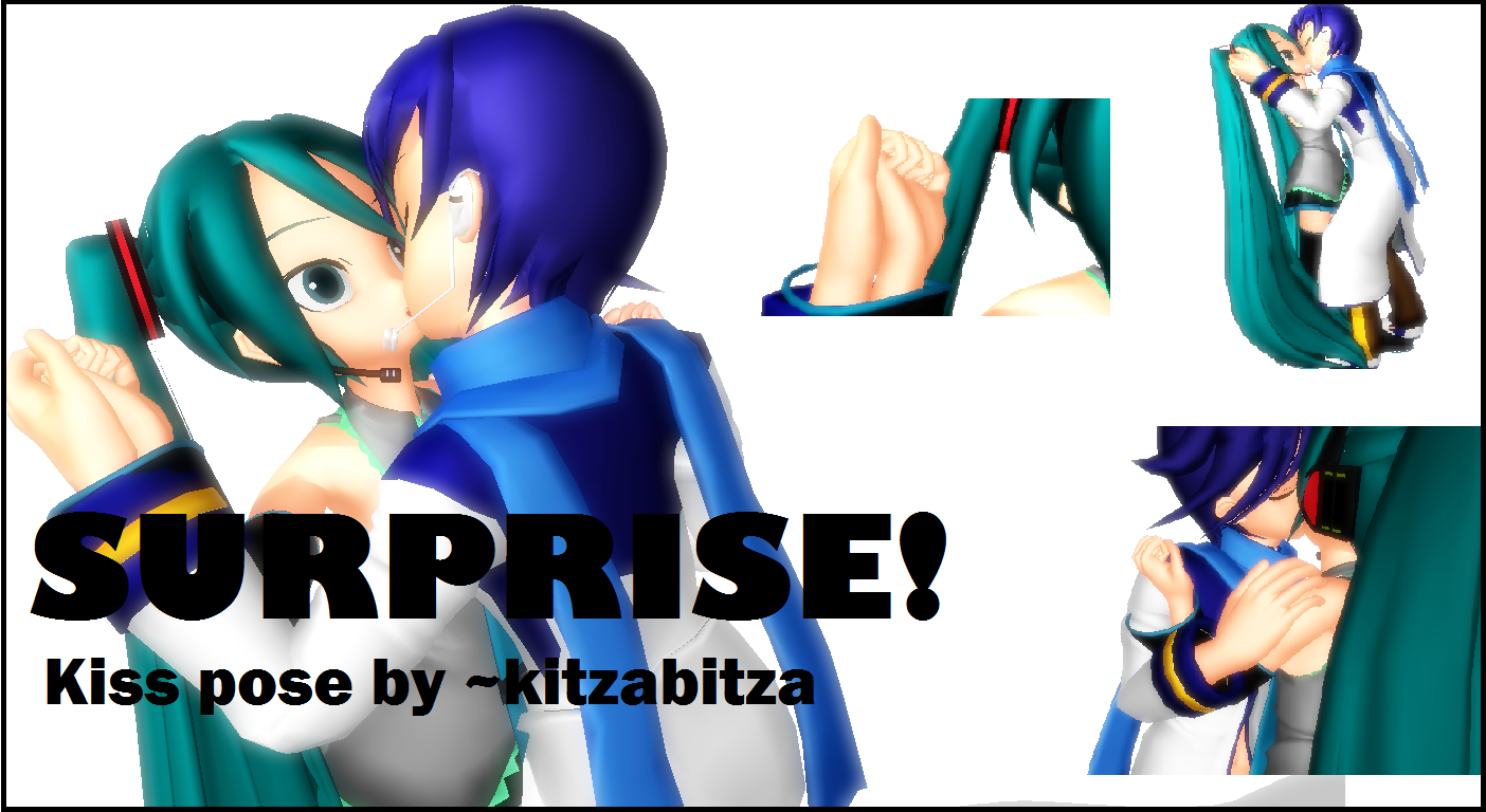 Surprise Kiss Pose MMD