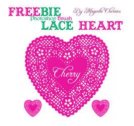 Lace Heart Brush (FREEBIE!) - Happy Valentine Day