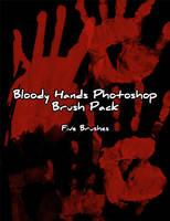 Bloody Hand Prints Brush Pack