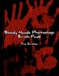 Bloody Hand Prints Brush Pack