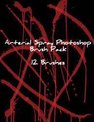 Arterial Spray Photoshop Brush