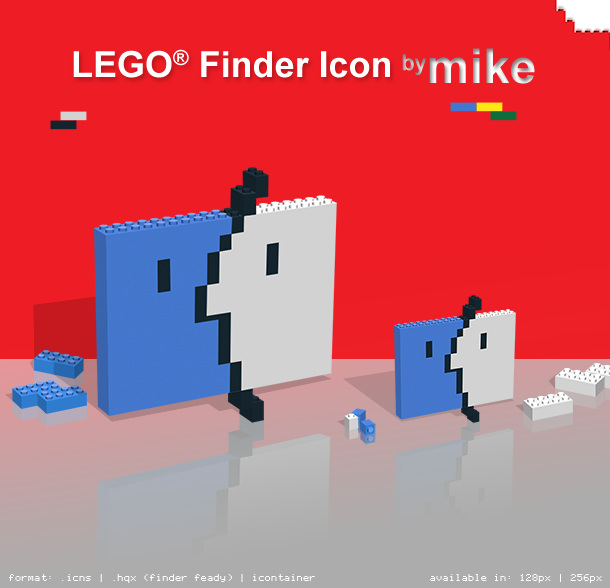 Lego-style FINDER icons by mook73