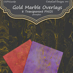 Transparent Gold Marble Overlays
