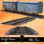 Hobo Train and Tracks