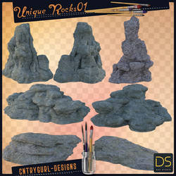 Large Unique Rocks 01 by CntryGurl-Designs
