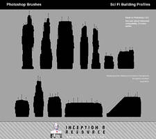 SciFi Building Profiles by inception8-Resource