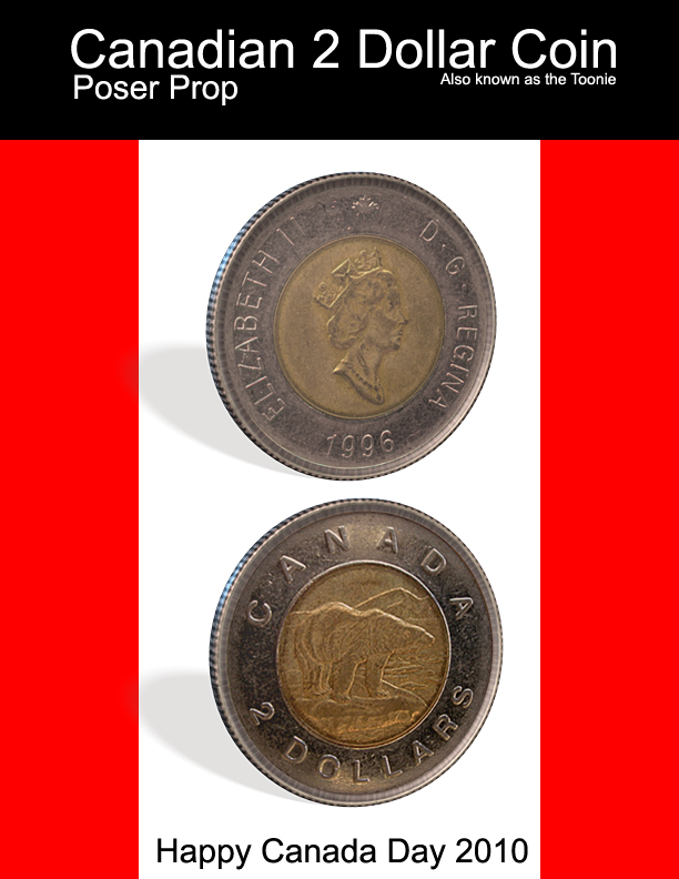 Canadian 2 Dollar Coin Prop