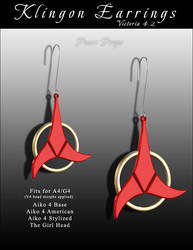 ST Klingon Earrings