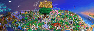 Animal Crossing Poster GIF - From start to finish
