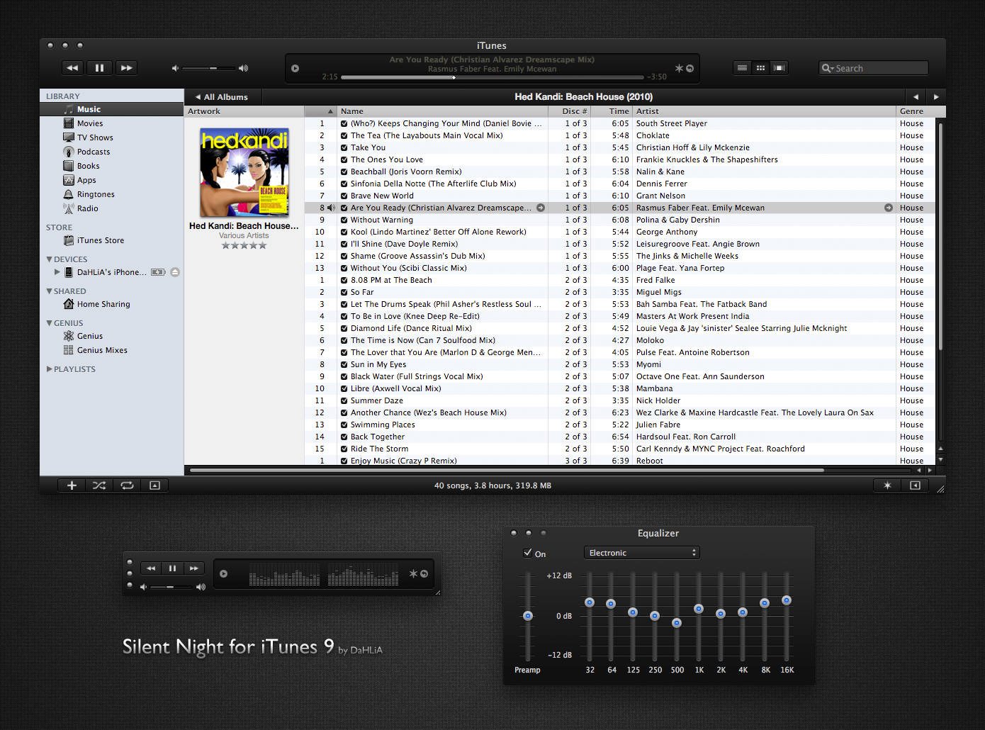 Silent Night for iTunes 9