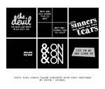 VIXX Dark Concepts || 60 Icon Text Textures