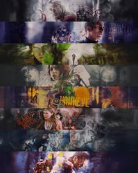 PSD FILES: seven avengers banners