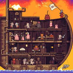 Pigrate ship