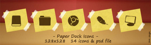Paper Dock Icons by snn-engn